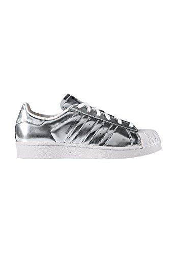 adidas Superstar CG3681Scarpe da Ginnastica da Donna, Donna, CG3681, Silver/White, Size UK 7.5