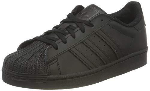 adidas Superstar J, Scarpe da Ginnastica, Core Black/Core Black/Core Black, 38 EU