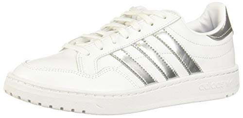 adidas Team Court W, Scarpe da Ginnastica Donna, Ftwr White/Silver Met./Ftwr White, 39 1/3 EU