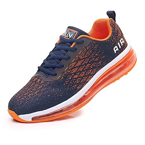 Azooken Scarpe Sportive Uomo Donna Scarpe da Corsa Ginnastica Cuscino Ad Aria Sneaker Tempo Libero Fitness Sneaker da Esterno Traspirante(8998-OG42)