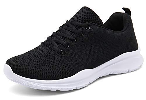 DAFENP Unisex Uomo Donna Scarpe da Ginnastica Corsa Sportive Fitness Running Sneakers Basse Interior Casual all'Aperto (36 EU, A Nero)