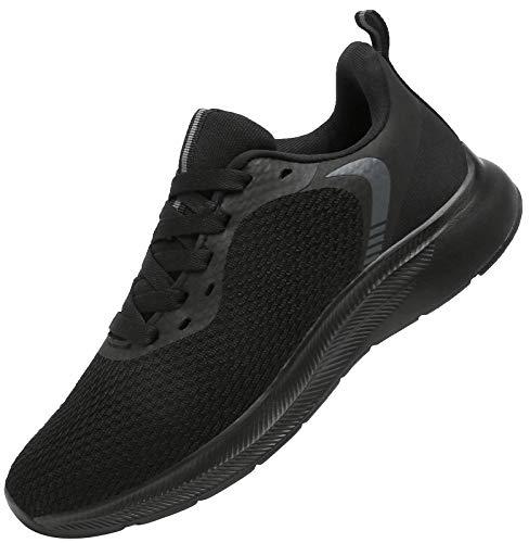 DAFENP Uomo Donna Scarpe da Ginnastica Sportive Corsa Sneakers Fitness Running Confortable Basse Basket Interior Casual all'Aperto XZ725-AllBlack-EU37