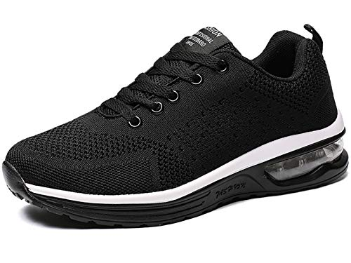 GAXmi Scarpe Running Donna Ginnastica Cuscino d'Aria Sneakers Fitness Sportive Scarpe da Corsa Nero 37.5 EU (Etichetta 39)