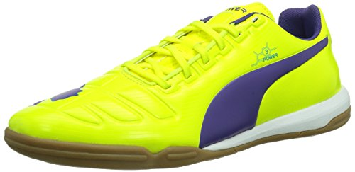 PUMA Evopower 3 It, Scarpe da Ginnastica Uomo, Giallo (Gelb (Fluro Yellow-Prism Violet-Scuba Blue 03), 40
