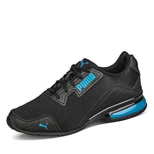 PUMA Leader VT Tech Mesh, Scarpe per Jogging su Strada Unisex-Adulto, Nero Black-Nrgy Blue, 42.5 EU