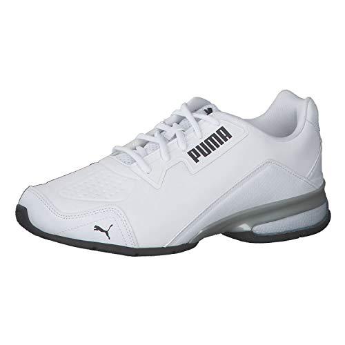 PUMA Leader VT Tech, Scarpe per Jogging su Strada Unisex-Adulto, Bianco White Black, 44 EU