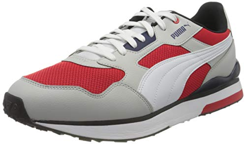 Puma R78 FUTR, Scarpe da Ginnastica Unisex-Adulto, Gray Violet White/High Risk Red, 44 EU