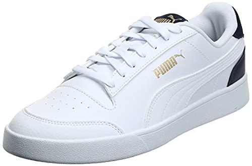 PUMA Shuffle, Scarpe da Ginnastica Unisex-Adulto, Bianco White-Peacoat Team Gold, 42 EU