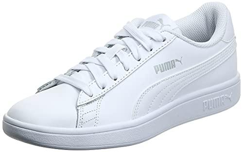 PUMA Smash v2 L, Scarpe da Ginnastica Unisex-Adulto, Bianco White White, 40.5 EU