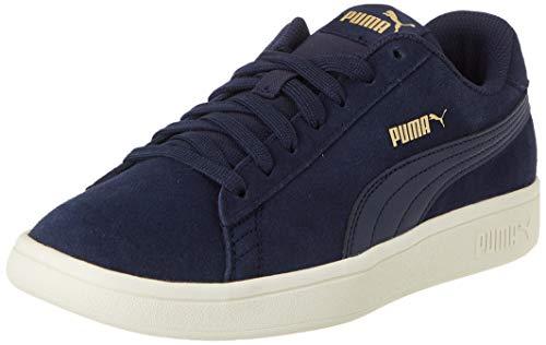 PUMA Smash v2, Sneaker Unisex-Adulto, Blu (Peacoat/Gold/Whisper White), 36 EU