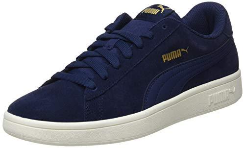 PUMA Smash v2, Sneaker Unisex-Adulto, Blu (Peacoat/Gold/Whisper White), 42 EU