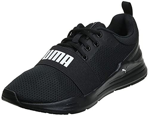 PUMA - Sneaker da Corsa con Fili Unisex, Nero Black, 44.5 EU
