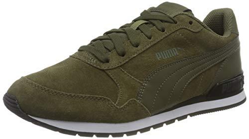 PUMA ST Runner v2 SD, Sneaker Unisex-Adulto, Verde (Burnt Olive-Forest Night), 42.5 EU