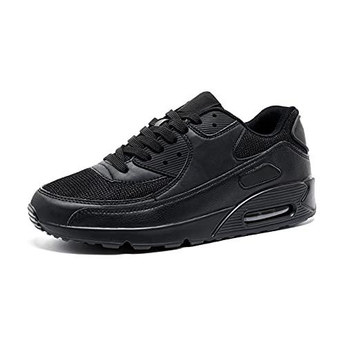 Scarpe da Ginnastica Donna Sportive Scarpe da Corsa Uomo Sneakers Scarpe Tennis Fitness Basse Running Scarpe da Allenamento Leggero Nere EU43