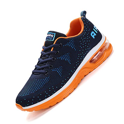 Sumateng Scarpe da Ginnastica Uomo Donna Sportive Sneakers Running Basse Basket Sport Outdoor Fitness Blue Orange 40 EU