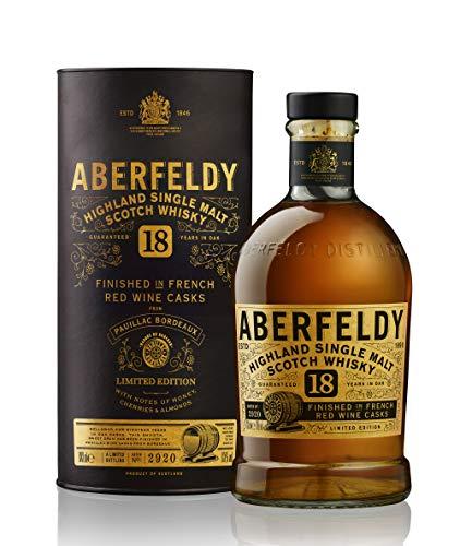 Aberfeldy 18 Years Old Highland Single Malt Scotch Whisky Red Wine Cask Finish 43% - 700ml in Giftbox