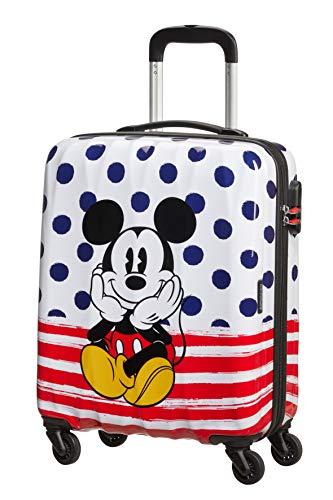 American Tourister Disney Legends - Spinner S, Bagaglio per bambini, 55 cm, 36 L, Multicolore (Mickey Dots)