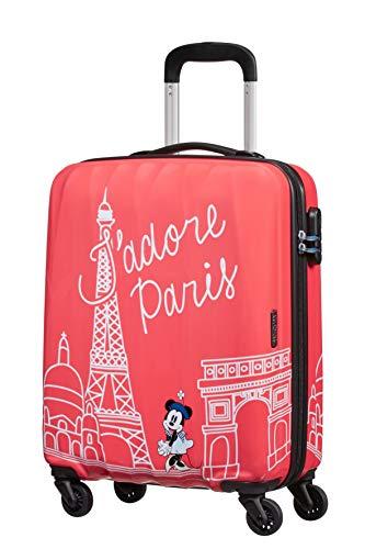 American Tourister Disney Legends - Spinner S Valigia per Bambini, S (55 cm - 36 L), Rosa (Take Me Away Minnie Paris)