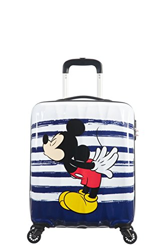 American Tourister Disney Legends - Spinner S Valigia per Bambini, S (55 cm - 36 L), Multicolore (Mickey Kiss)