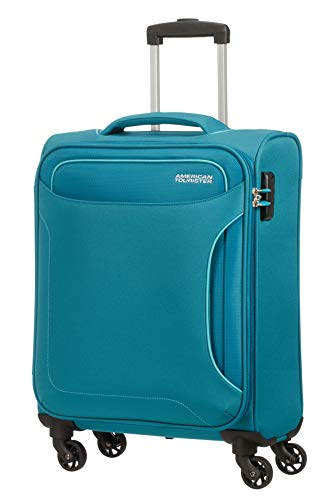 American Tourister Holiday Heat Bagaglio a Mano, Spinner S (55 cm-38 Litri), Verde (Petrol Green)
