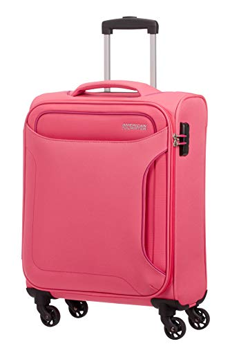 American Tourister Holiday Heat Bagaglio a Mano, Spinner S (55cm-38L), Rosa (Blossom Pink)