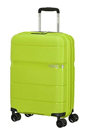 American Tourister Linex Spinner S, Bagaglio a mano, 55 cm, 34 L, Verde (Key Lime)