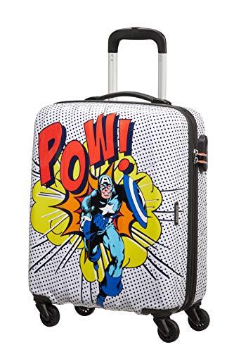 American Tourister Marvel Legends Spinner S, Bagaglio a mano, 55 cm, 36 L, Multicolore (Captain America Pop Art)