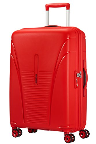 American Tourister Skytracer Spinner Bagaglio a Mano, 68 cm, 63 litri, Formula Red