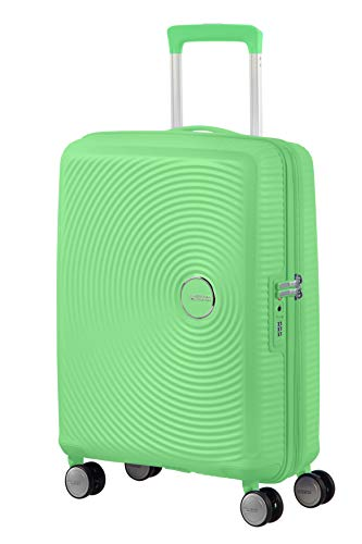 American Tourister Soundbox - Spinner S Espandibile Bagaglio a Mano, 55 cm, 35.5/41 Litri, Verde (Spring Green)