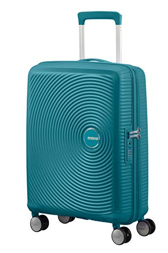AMERICAN TOURISTER Soundbox - Spinner S Espandibile Bagaglio a Mano, Spinner S (55 cm - 41 L), Verde (Jade Green)