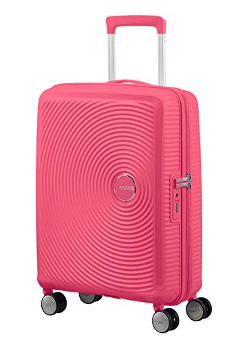 AMERICAN TOURISTER Soundbox - Spinner S Espandibile Bagaglio a Mano, Spinner S (55 cm - 41 L), Rosa (Hot Pink)
