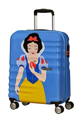 American Tourister Wavebreaker Disney Deluxe - Spinner S Bagaglio a Mano, 55 cm, 36 Litri, Blau (Snow White)