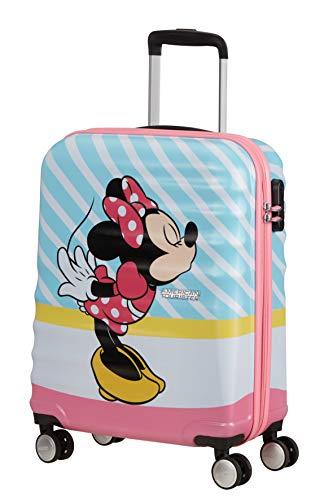 American Tourister Wavebreaker Disney - Spinner S Bagaglio a Mano, 55 cm, 36 L, Multicolore (Minnie Pink Kiss)