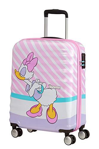 American Tourister Wavebreaker Disney - Spinner S Bagaglio a Mano, 55 cm, 36 L, Multicolore (Daisy Pink Kiss)