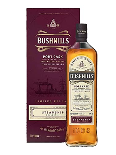Bushmills PORT CASK Reserve The Steamship Collection 40% Vol. 0,7l in Giftbox