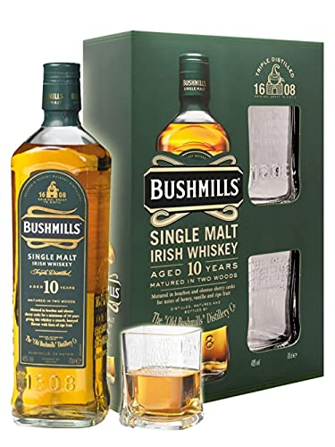 Bushmills Single Malt Irish Whiskey 10 Years Old Mit Geschenkverpackung Mit 2 Gläsern
