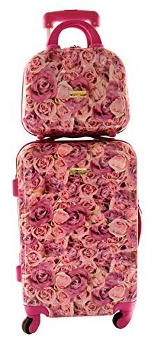 Camomilla MILANO Set Valigeria, Set di Valigie, Trolley da Viaggio (40 lt.) + Vanity Case (10 lt.), Materiale Rigido, Ruote Pivotanti, Chiusura TSA, Colore Rose Fucsia