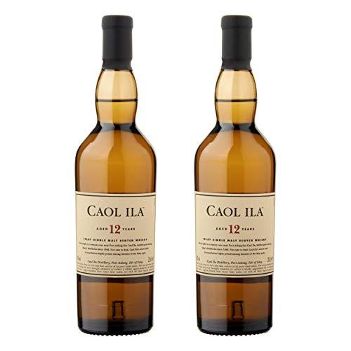 Caol Ila 12 Years/Jahre, 2 Bicchieri, Single Malt, Whisky, Scotch, Alcol, alocohol, Bottiglia 43%, 200 ml, 647650