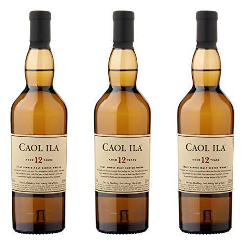 Caol Ila 647650 - Bottiglia da 12 Anni, 3 Pezzi, per Malto, Whisky, Scotch, Alcol, Bevande alcoliche, 43%, 200 ml