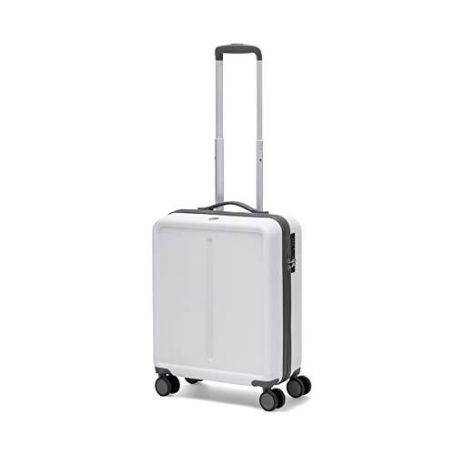 Ciak Roncato Bagaglio a Mano Dimensioni Standard da Cabina 55x40x20 cm, Colore Bianco, con Presa USB per Viaggi di Lavoro