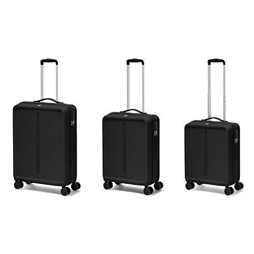 Ciak Roncato Set da 3 Trolley di 3 misure (L+M+S), Bagaglio Grande, Medio e Bagaglio a Mano, Collezione Infinity Colore Nero