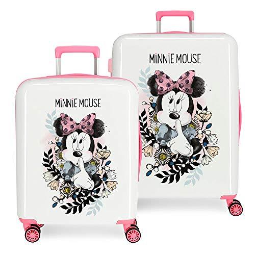 Disney Minnie Style Set valigie Multicolore 55/68 cms Rigida ABS Chiusura a combinazione numerica 119.4L 4 doppie ruote Bagaglio a mano