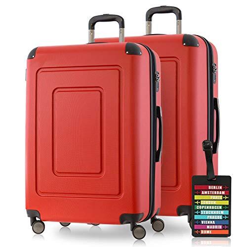 Happytrolley Lugano Set di valigie 66 Centimeters 78 Rosso (Rot)