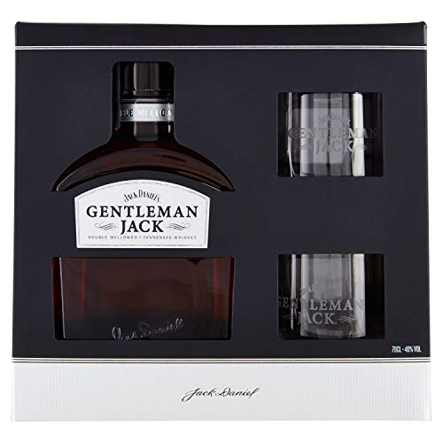 Jack Daniel's GENTLEMAN JACK Tennessee Whiskey 40% Vol. 0,7l in Giftbox with 2 glasses