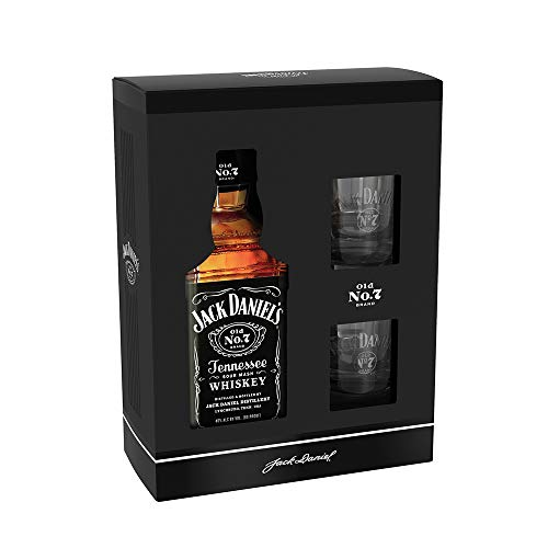 Jack Daniel's Tennessee Whiskey 40% - 700ml in Giftbox with Rocking glasses