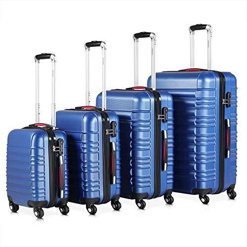 Monzana Set di valigie 4pz Baseline S M L XL lucchetto valigia di viaggio trolley rigido peso ridotto bagaglio a mano
