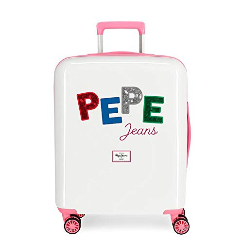 Pepe Jeans Kim Valigia da cabina multicolore 40 x 55 x 20 cm rigida ABS chiusura TSA integrata 38,4 L 2 kg 4 ruote doppie bagaglio a mano