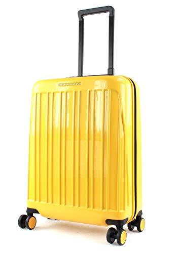 Piquadro trolley cabina rigido ultra slim a quattro ruote Seeker Pop BV5027SK70/G giallo novità 2020