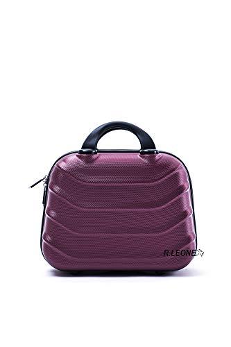 R.Leone Borsetta Rigida Beauty case in ABS 2026 (Bordò, XS Beauty case)