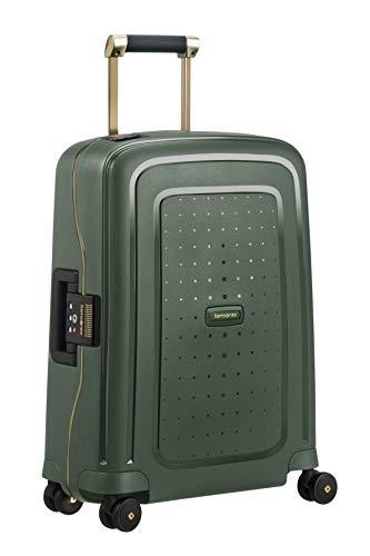 Samsonite S'Cure DLX Spinner 55 Bagaglio a Mano, S (55cm-34L), Verde (Dark Green/Gold Deluscious)